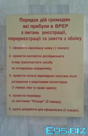 Порядок постановки автомобиля на учет в МРЭО Украины